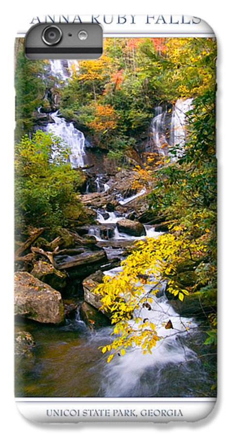 Landscape IPhone 6 Plus Case featuring the photograph Anna Ruby Falls by Peter Muzyka