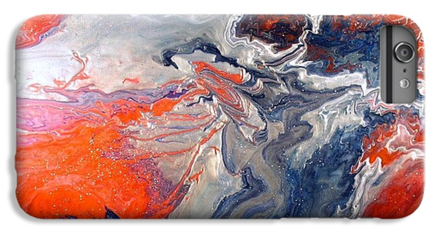 Abstract IPhone 6 Plus Case featuring the painting Annihilation by Patrick Mock