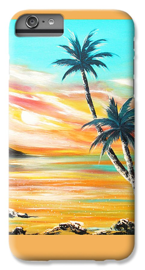 Sunset IPhone 6 Plus Case featuring the painting Another Sunset In Paradise by Gina De Gorna