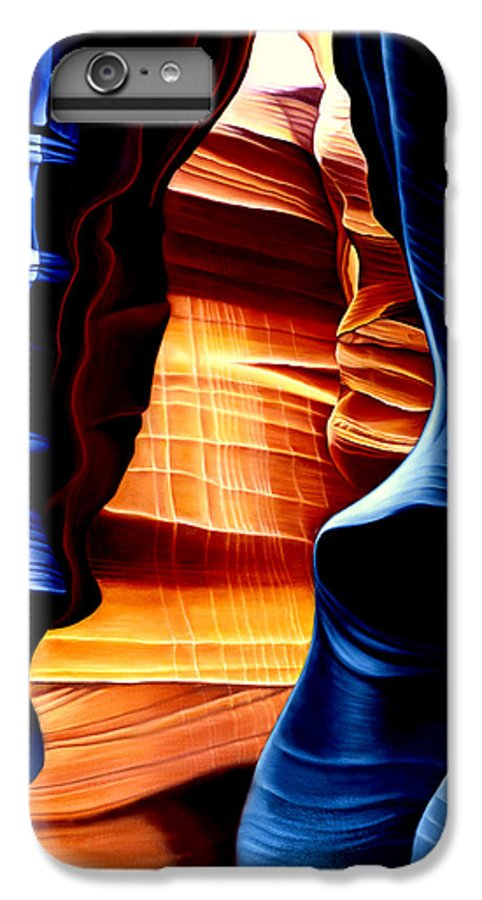 Landscape IPhone 6 Plus Case featuring the painting Antelope Canyon by Anni Adkins
