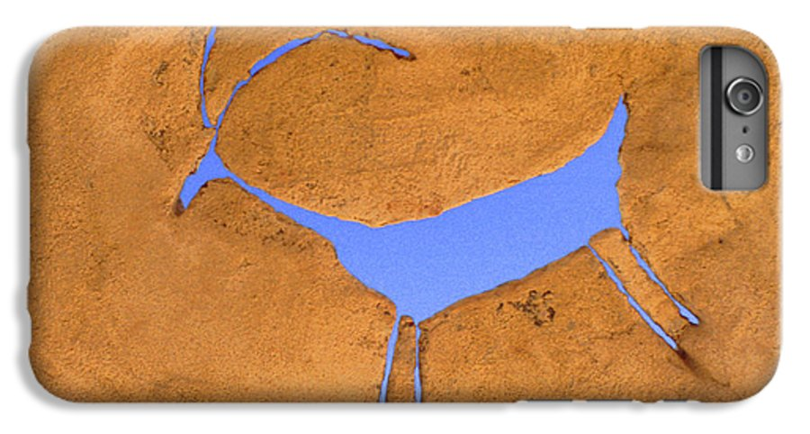 Anasazi IPhone 6 Plus Case featuring the photograph Antelope Petroglyph by Jerry McElroy