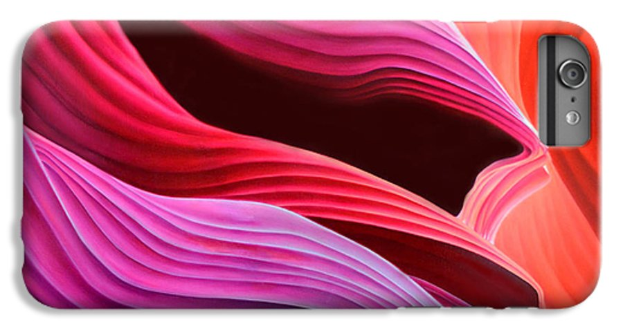 Antelope Canyon IPhone 6 Plus Case featuring the painting Antelope Waves by Anni Adkins
