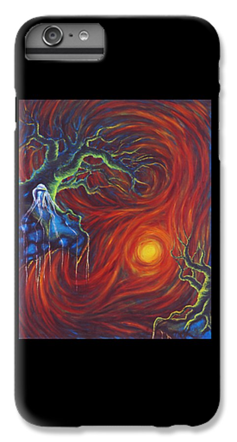 Tree Paintings IPhone 6 Plus Case featuring the painting Anxiety by Jennifer McDuffie