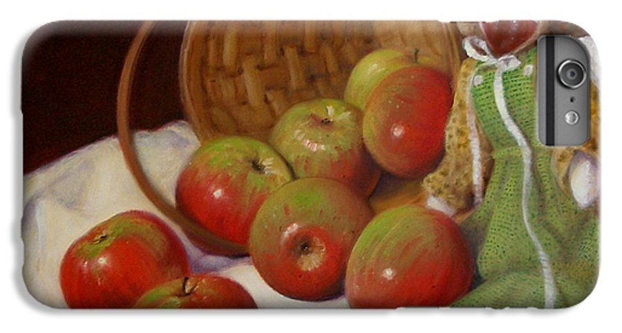 Realism IPhone 6 Plus Case featuring the painting Apple Annie by Donelli DiMaria