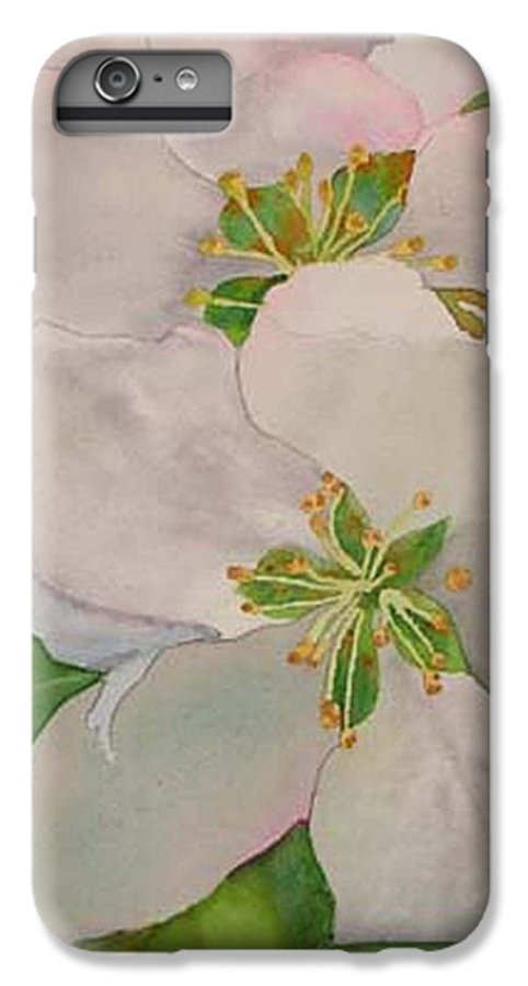 Apple Blossoms IPhone 6 Plus Case featuring the painting Apple Blossoms by Sharon E Allen