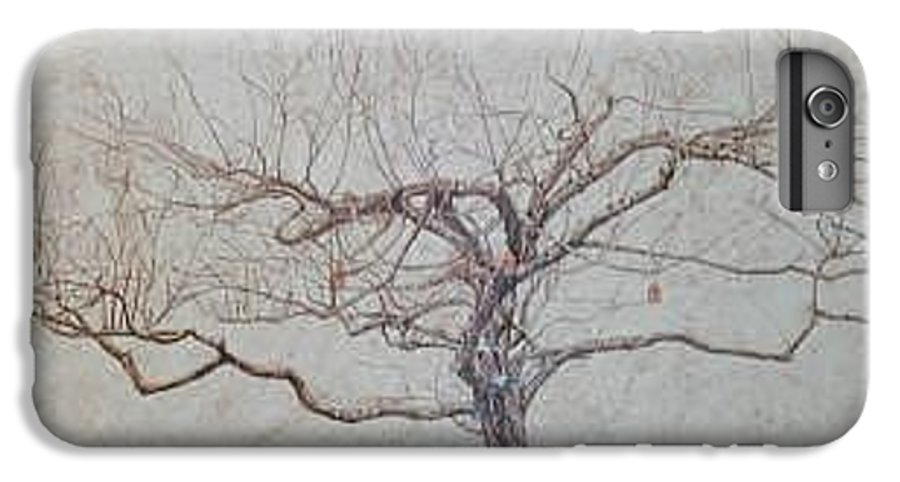 Apple Tree IPhone 6 Plus Case featuring the painting Apple Tree In Winter by Leah Tomaino