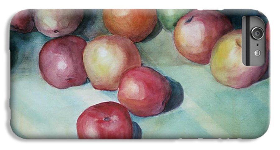 Orange IPhone 6 Plus Case featuring the painting Apples And Orange by Jun Jamosmos