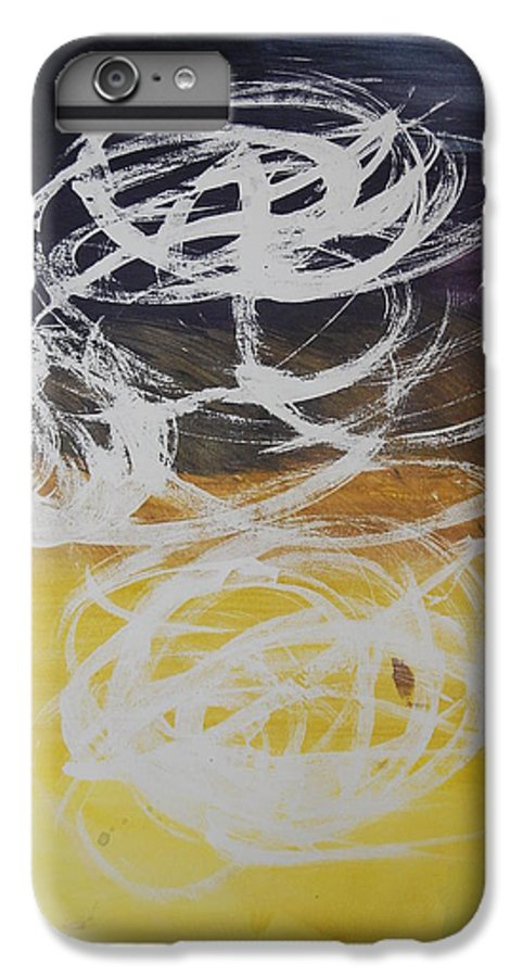 Learning IPhone 6 Plus Case featuring the painting Aprendiendo by Lauren Luna