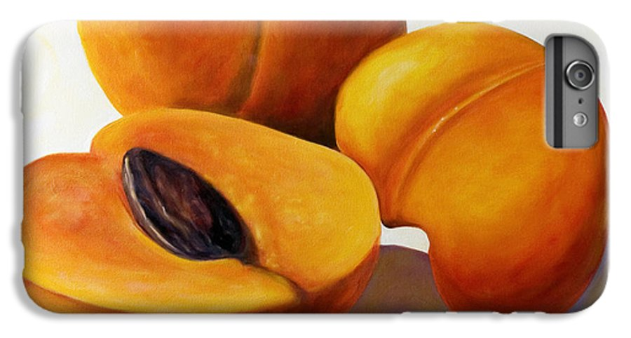 Apricots IPhone 6 Plus Case featuring the painting Apricots by Shannon Grissom