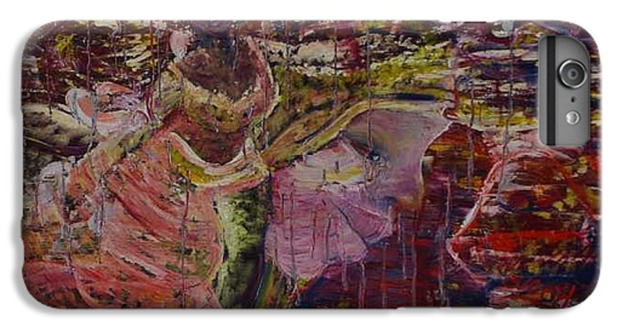 Portrait IPhone 6 Plus Case featuring the painting April 29th. by Peggy Blood