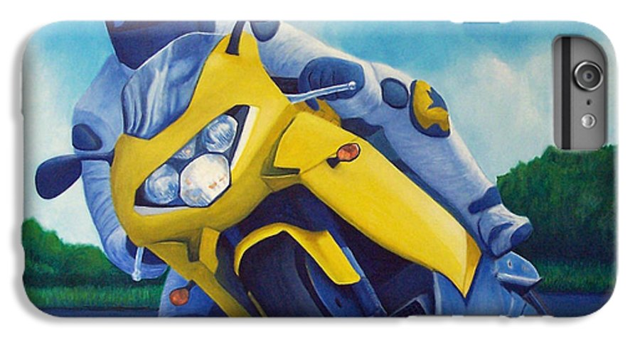 Motorcycle IPhone 6 Plus Case featuring the painting Aprilla - Tuesday Afternoon by Brian Commerford
