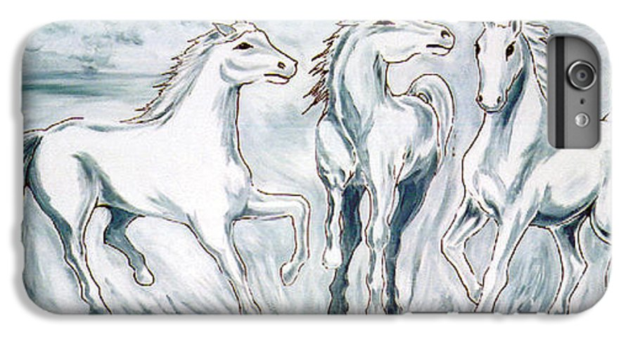 Horses IPhone 6 Plus Case featuring the painting Arabian Roots by Marco Morales