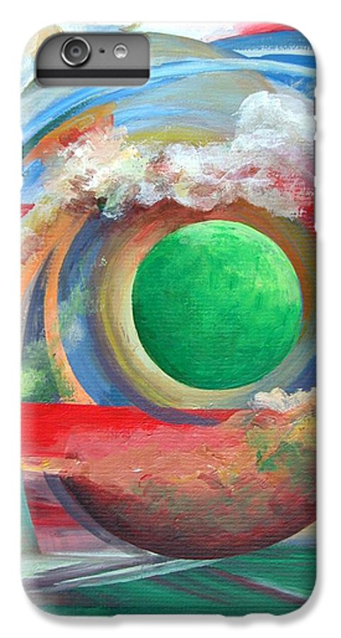 Abstract IPhone 6 Plus Case featuring the painting Arc by Muriel Dolemieux