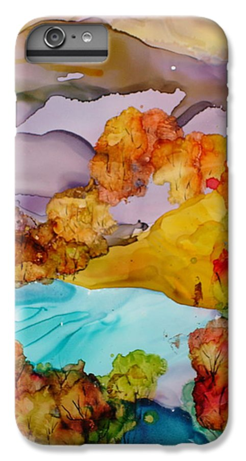 Fall IPhone 6 Plus Case featuring the mixed media Arcadia by Susan Kubes