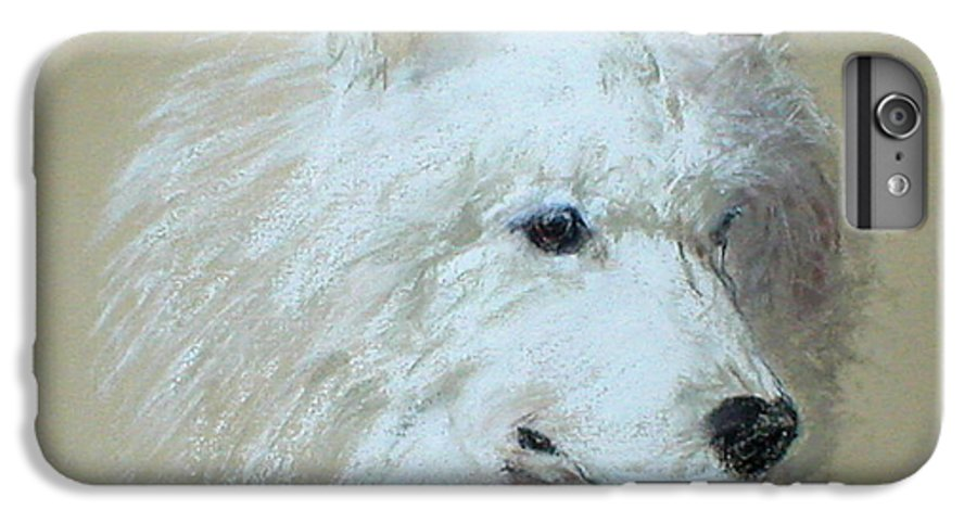 Dog IPhone 6 Plus Case featuring the drawing Arctic Serenity by Cori Solomon