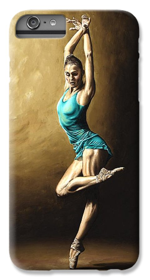 Dance IPhone 6 Plus Case featuring the painting Ardent Dancer by Richard Young