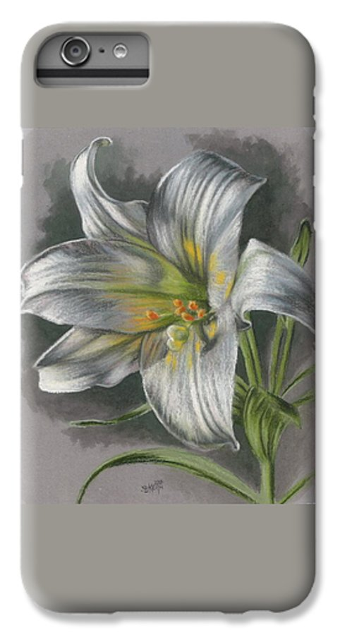Easter Lily IPhone 6 Plus Case featuring the mixed media Arise by Barbara Keith