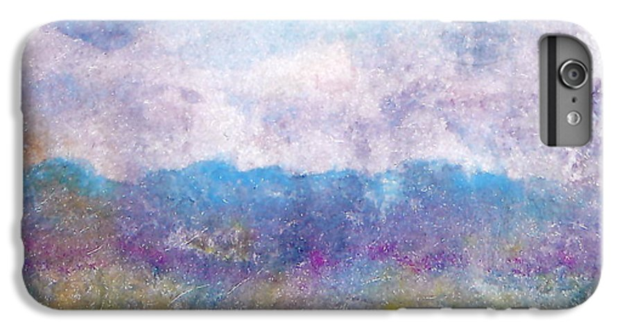 Abstract IPhone 6 Plus Case featuring the painting Arizona Impressions by Jan Bennicoff
