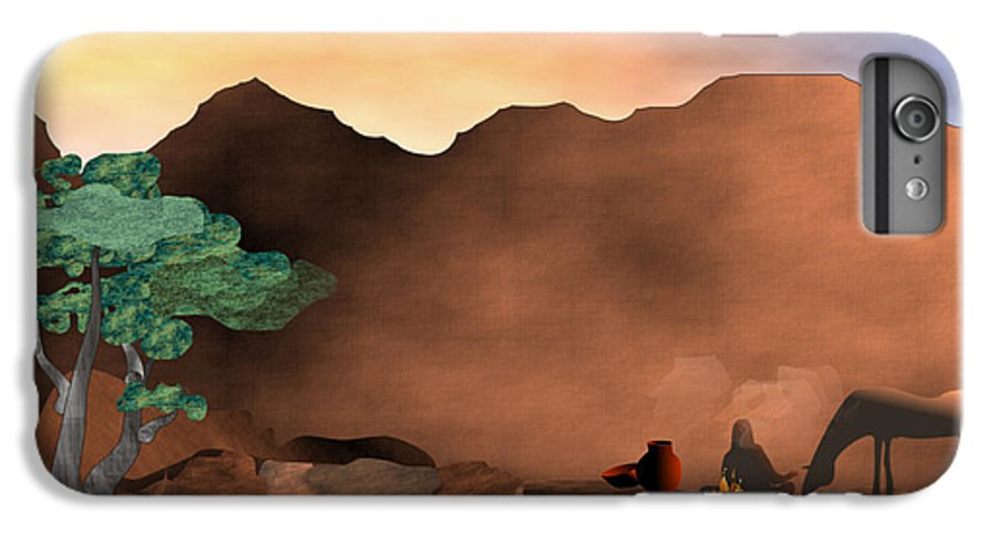 Arizona IPhone 6 Plus Case featuring the digital art Arizona Sky by Arline Wagner