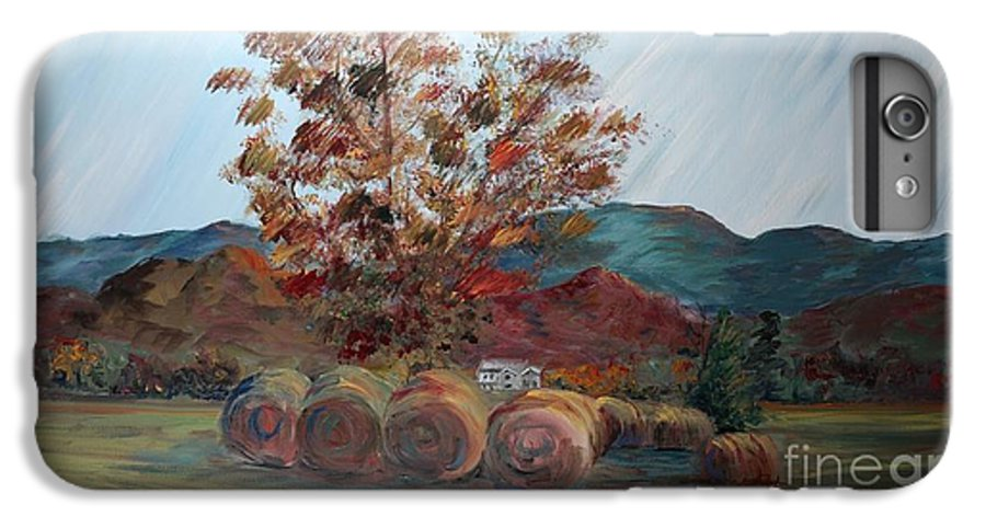 Autumn IPhone 6 Plus Case featuring the painting Arkansas Autumn by Nadine Rippelmeyer
