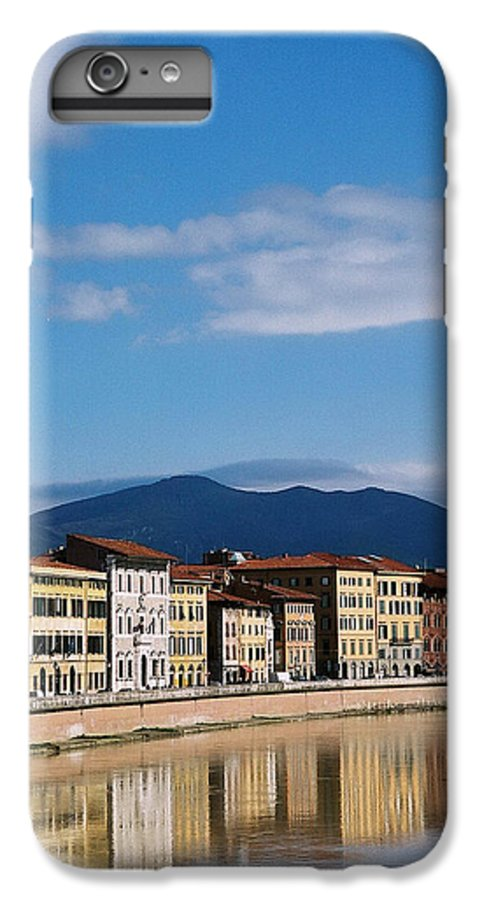 Pisa IPhone 6 Plus Case featuring the photograph Arno River Pisa Italy by Kathy Schumann