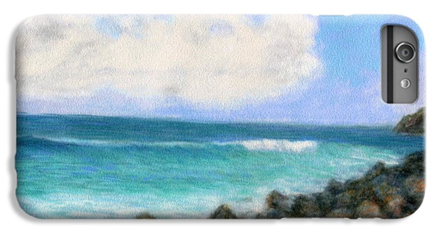 Rainbow Colors Pastel IPhone 6 Plus Case featuring the painting Around The Point by Kenneth Grzesik