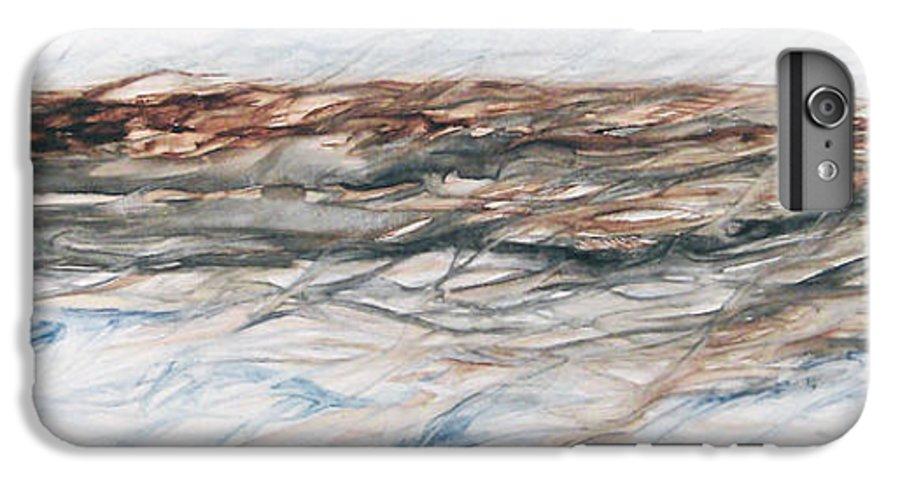 Above Air Artist As Below Blue Brown Darkest Darkestartist Earth Ground Painting Water Watercolor IPhone 6 Plus Case featuring the painting As Above Below by Darkest Artist