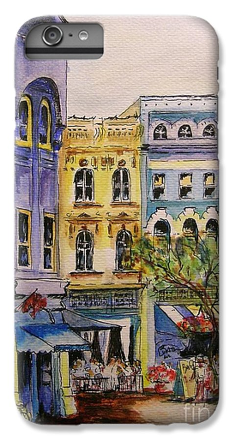 Townhouses IPhone 6 Plus Case featuring the painting Asheville by Lizzy Forrester