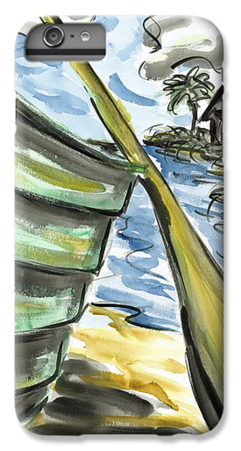 Seascape IPhone 6 Plus Case featuring the painting Ashore by Robert Joyner