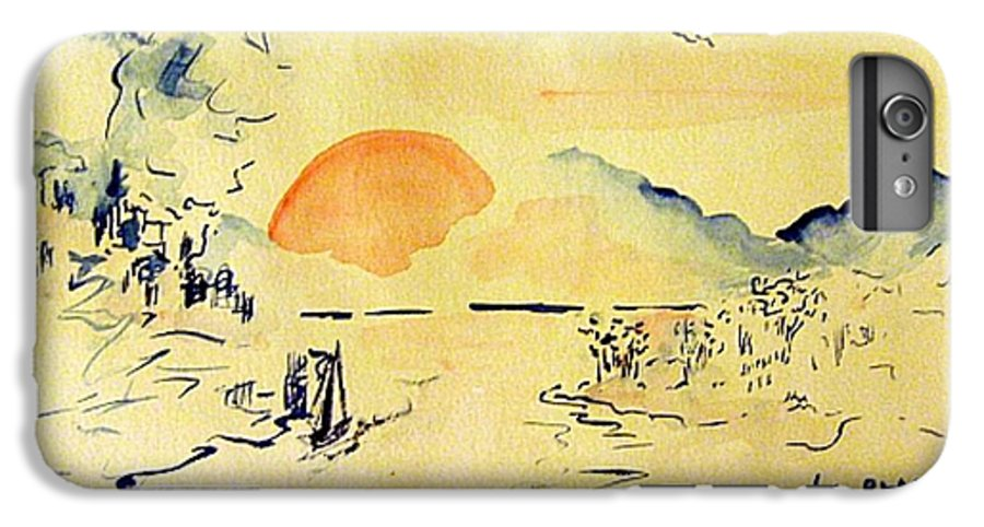 Asia IPhone 6 Plus Case featuring the painting Asian Sunrise by Andrew Gillette