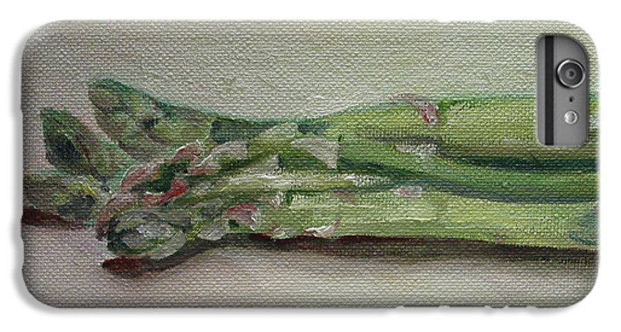 Food IPhone 6 Plus Case featuring the painting Asparagus by Sarah Lynch