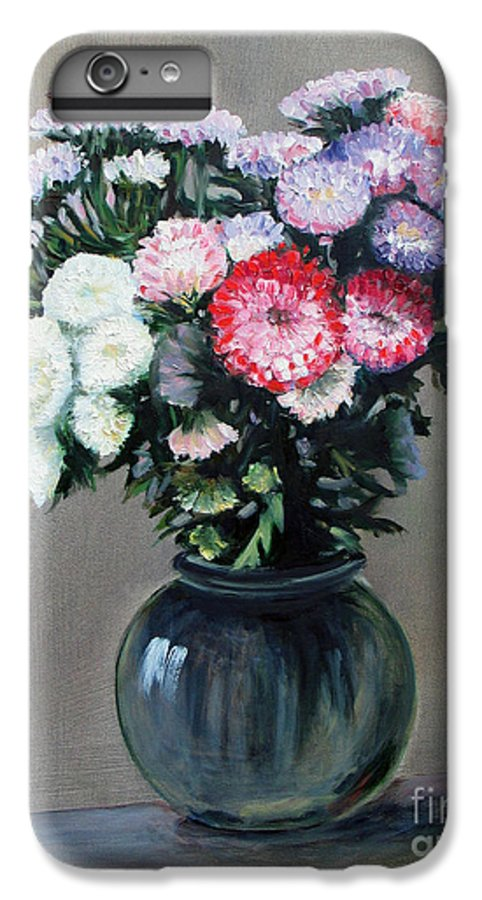 Flowers IPhone 6 Plus Case featuring the painting Asters by Paul Walsh