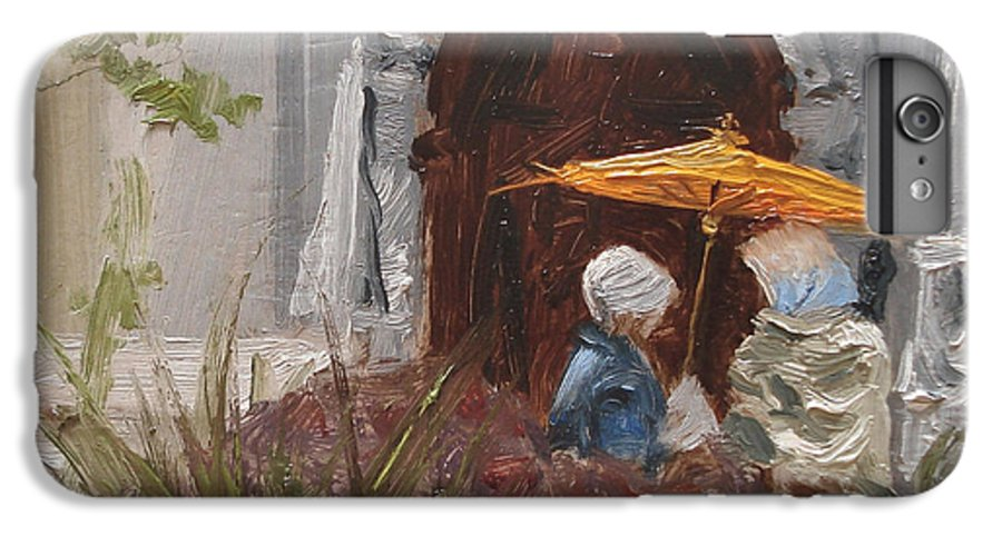 Parks IPhone 6 Plus Case featuring the painting At Balboa Park by Barbara Andolsek
