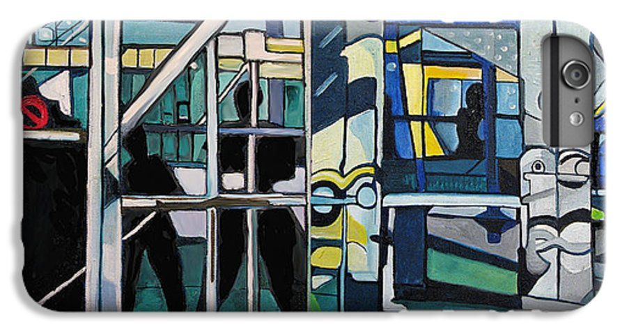 Abstract IPhone 6 Plus Case featuring the painting Atlanic City Abstract No.1 by Patricia Arroyo