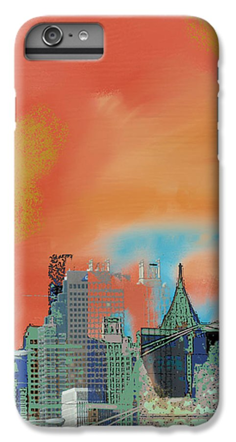 Atlanta IPhone 6 Plus Case featuring the mixed media Atlanta Abstract After The Tornado by Ann Tracy