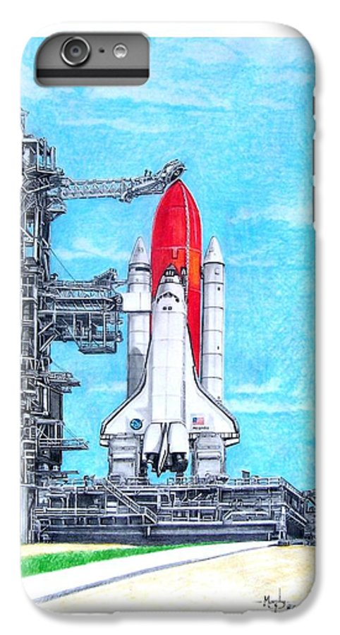 Drawing IPhone 6 Plus Case featuring the drawing Atlantis by Murphy Elliott