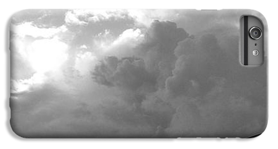 Black And White IPhone 6 Plus Case featuring the photograph Atmospheric Barcode 19 7 2008 16 Version Bw by Donald Burroughs