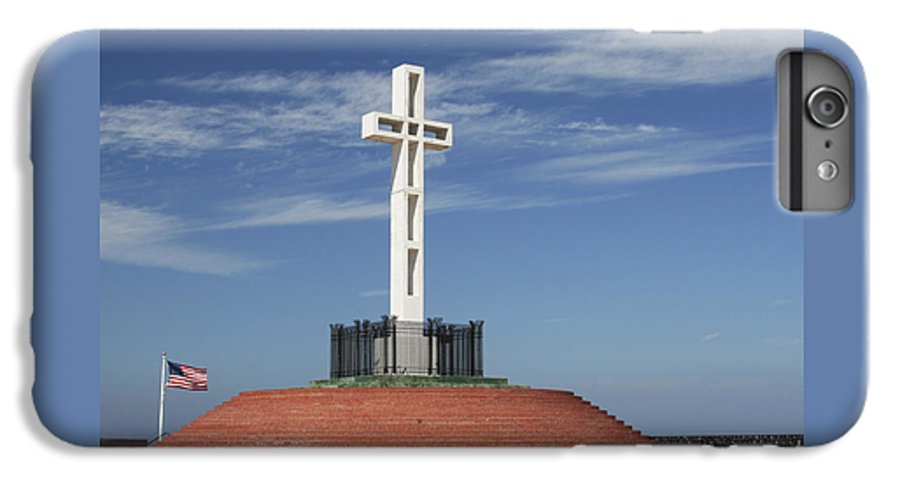 Mt Soledad IPhone 6 Plus Case featuring the photograph Atop Mt Soledad by Margie Wildblood