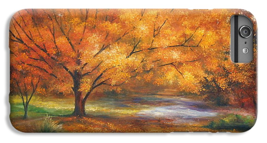 Fall IPhone 6 Plus Case featuring the painting Autumn by Ann Cockerill