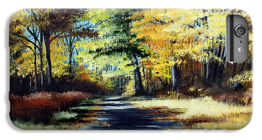 Landscape IPhone 6 Plus Case featuring the painting Autumn Colors by Paul Walsh