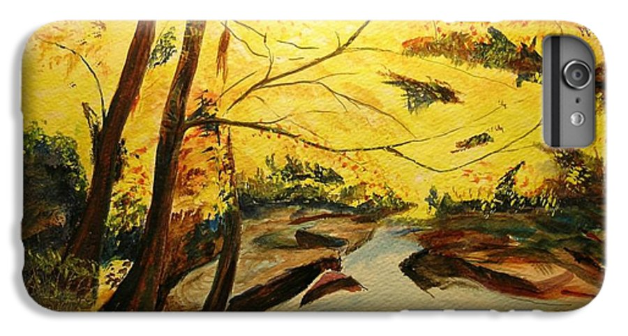 Trees In Autumn IPhone 6 Plus Case featuring the painting Autumn Colours by Lizzy Forrester