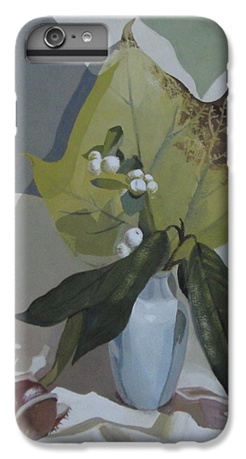 Still Life IPhone 6 Plus Case featuring the painting Autumn by Elena Oleniuc