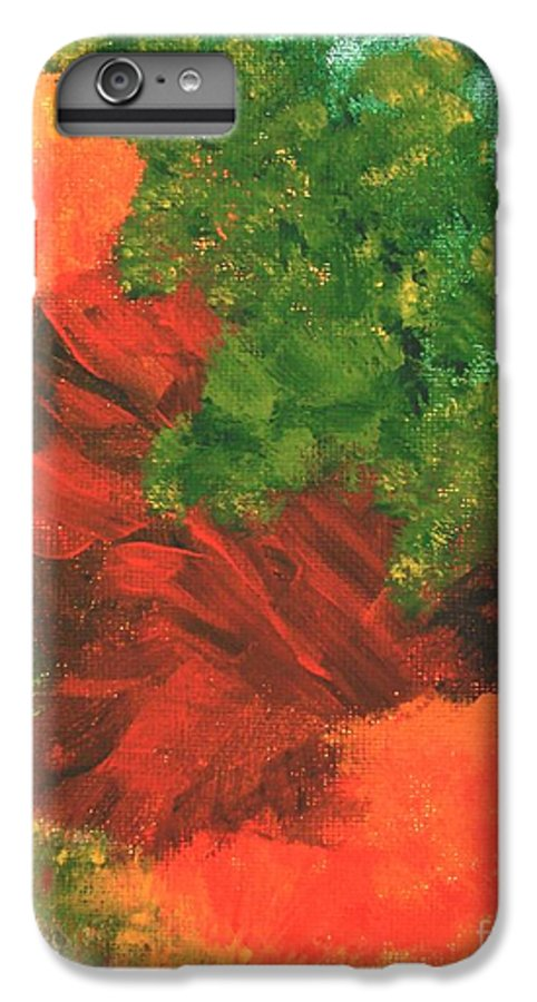 Abstract IPhone 6 Plus Case featuring the painting Autumn Equinox by Itaya Lightbourne