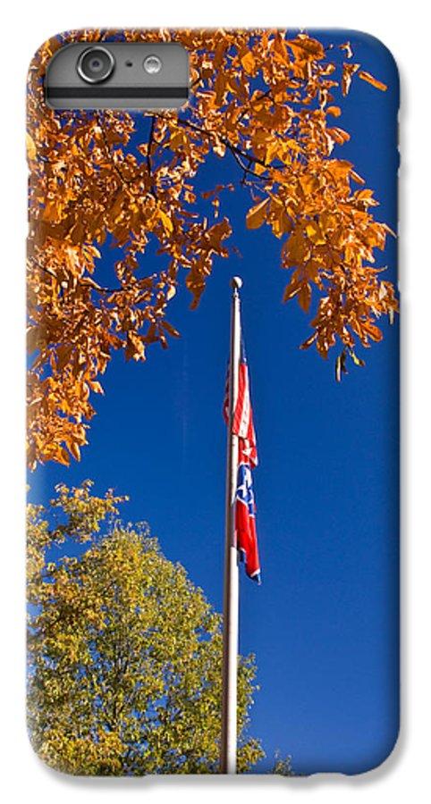 Flag IPhone 6 Plus Case featuring the photograph Autumn Flag by Douglas Barnett