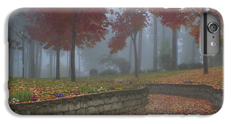 Autumn IPhone 6 Plus Case featuring the photograph Autumn Fog by Idaho Scenic Images Linda Lantzy