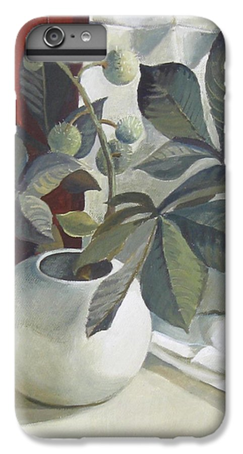 Still Life IPhone 6 Plus Case featuring the painting Autumn Fruits by Elena Oleniuc