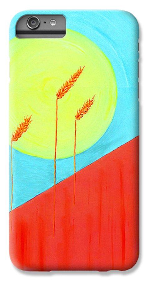Landscape IPhone 6 Plus Case featuring the painting Autumn Harvest by J R Seymour