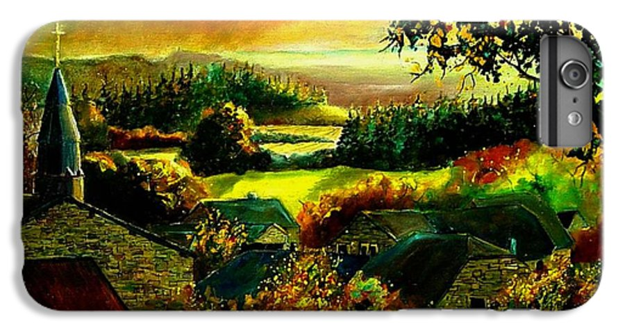 Landscape IPhone 6 Plus Case featuring the painting Autumn In Our Village Ardennes by Pol Ledent