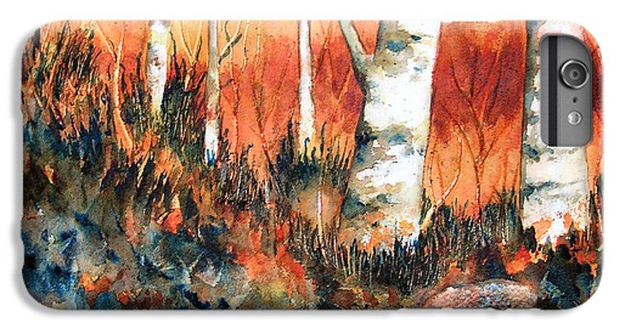 Landscape IPhone 6 Plus Case featuring the painting Autumn by Karen Stark