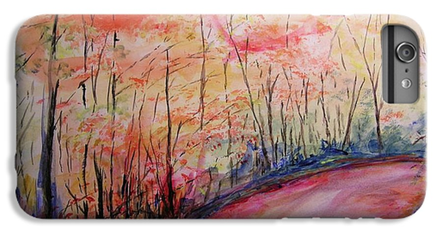 Landsape IPhone 6 Plus Case featuring the painting Autumn Lane II by Lizzy Forrester